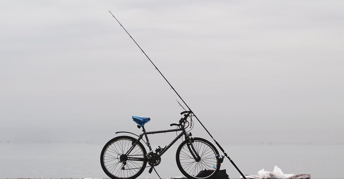 A person riding a bicycle next to a body of water
